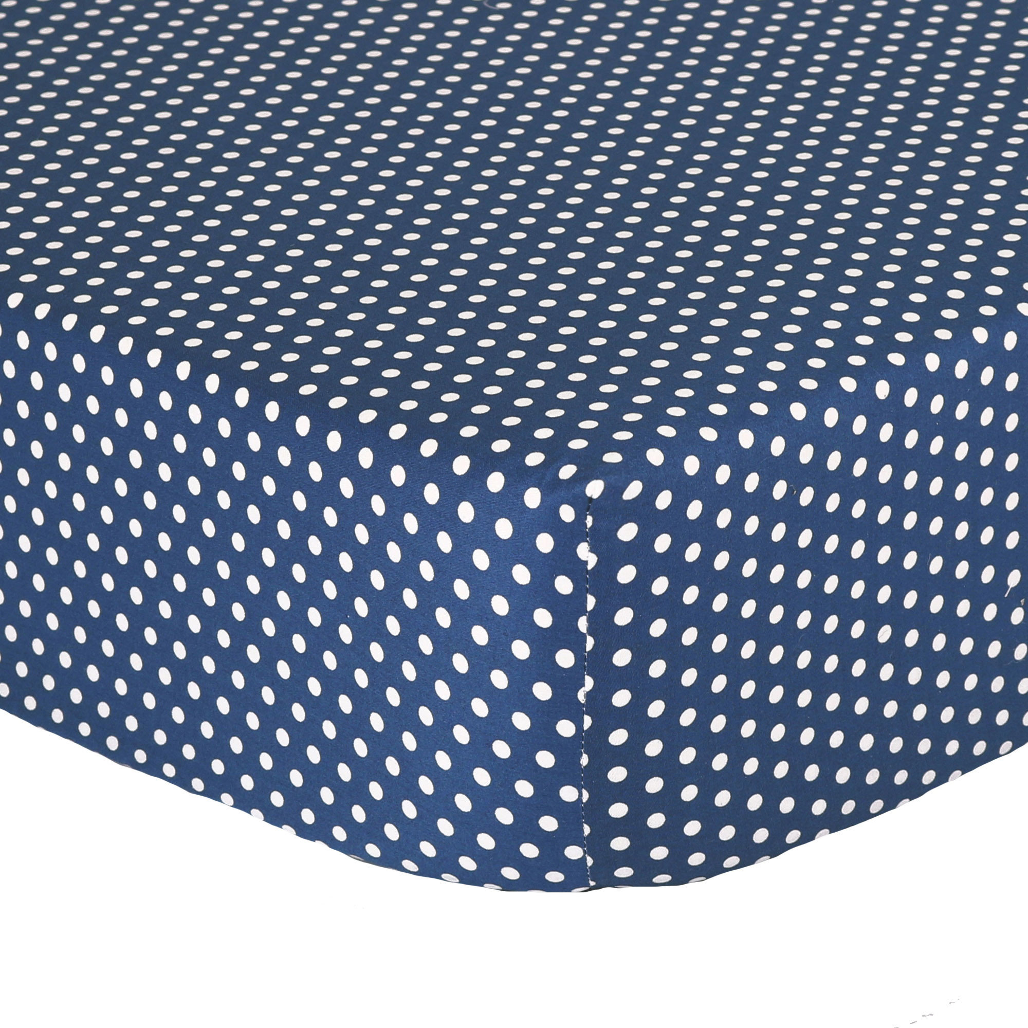 Navy Blue Confetti Dot Print 100% Cotton Fitted Crib Sheet by The Peanut Shell