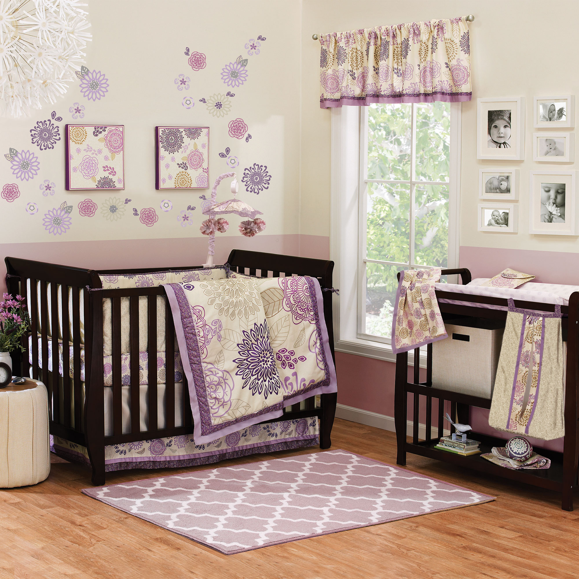 crib add baby product sweet sorbet chevron girl custom to nursery bumperless da bed loading bedding wishlist lottie