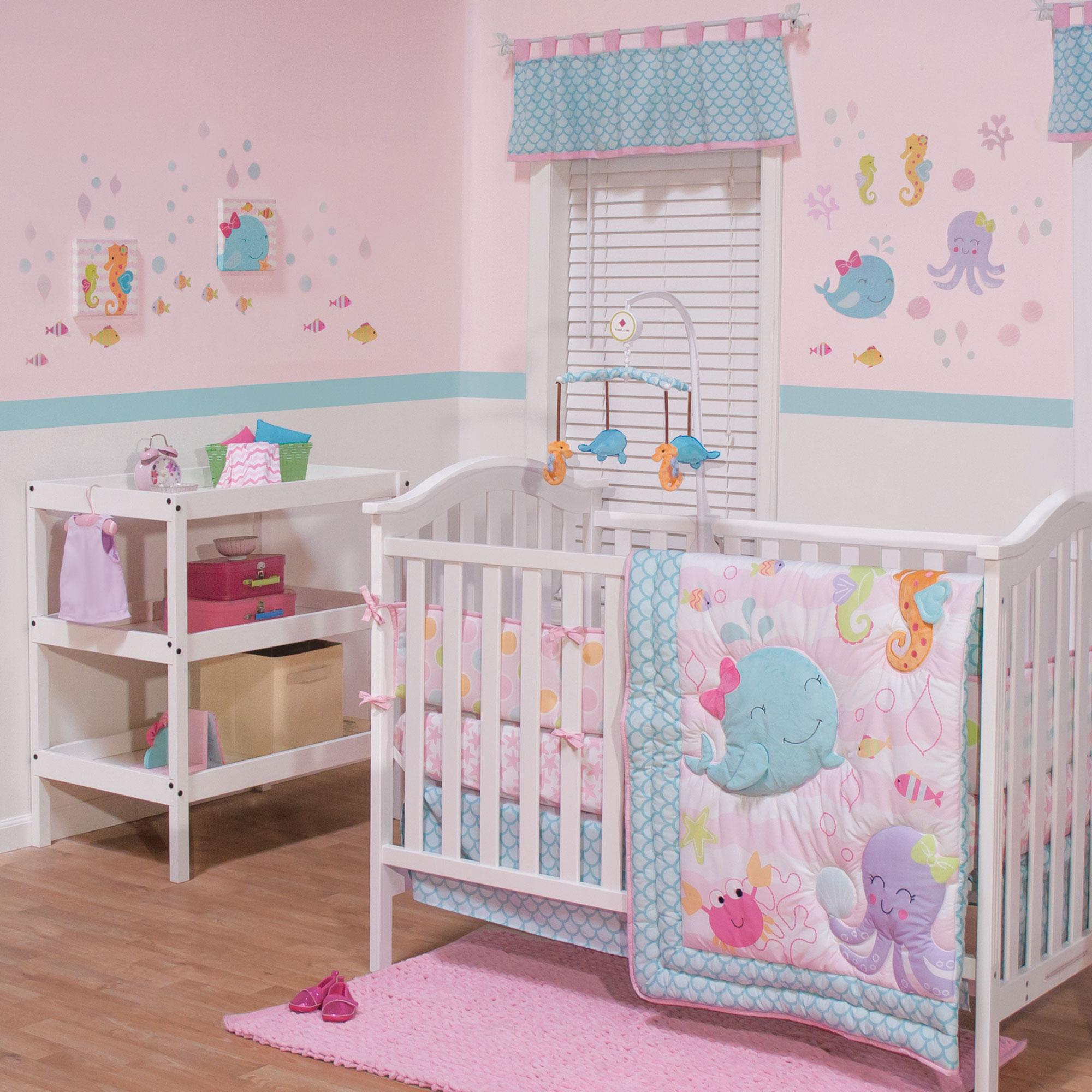 Belle Sea Sweetie 3 Piece Crib Bedding Set Model 24448714