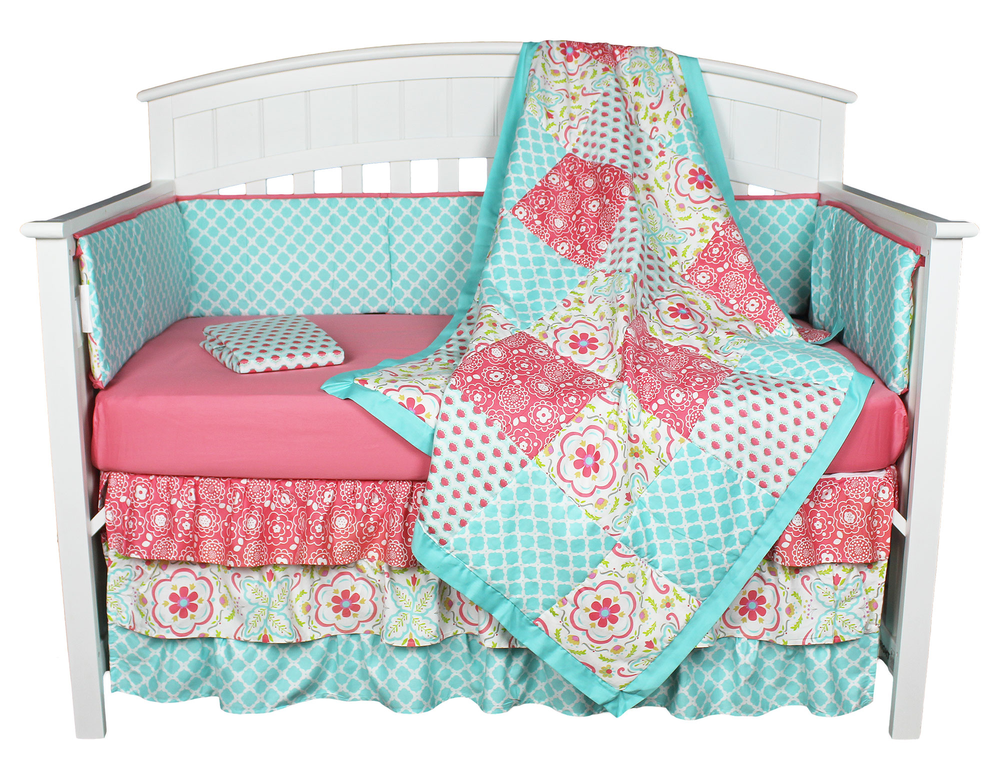 girl pink shop baby products green nursery for celery bed high sets anouk bedding crib l