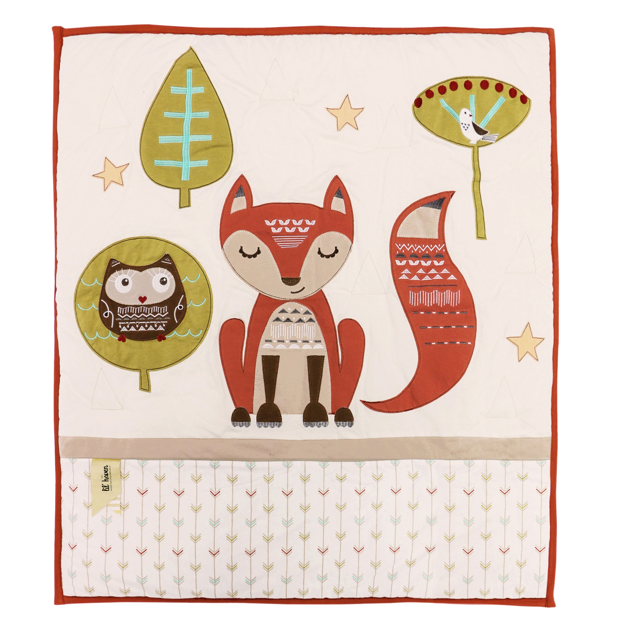 Clever Fox Forest Friend Owl Neutral Crib Baby Bedding Set